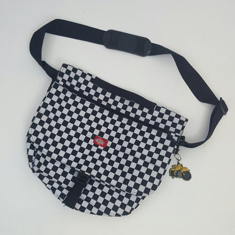 Black + white Checkered Dickies messenger  bag. Has lots of - Depop d27755accf3cd
