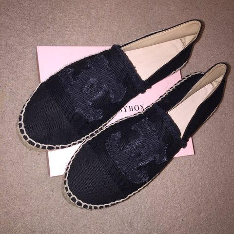 a62c3a04f All black Chanel espadrilles worn only once selling as too - - Depop