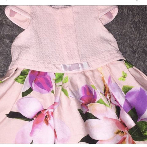 501bee2192fa0e Ted Baker Debenhams baby girls pastel pink tweed and flower - Depop