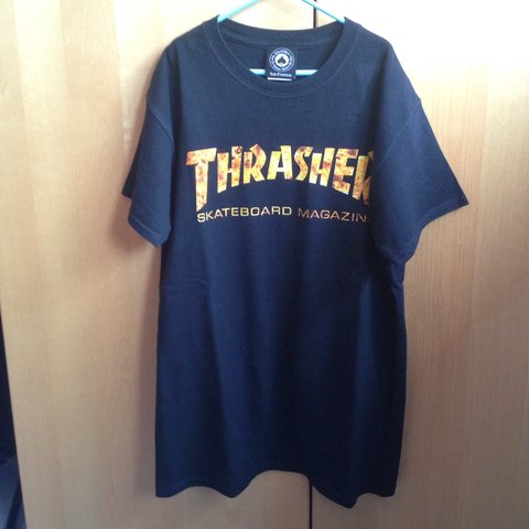 e3f199673ccd Thrasher Skateboard Magazine fire logo t-shirt. Very good in - Depop