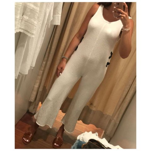 c34150ece04 Zara kids white jumpsuit - aged 13-14 years brand new still - Depop