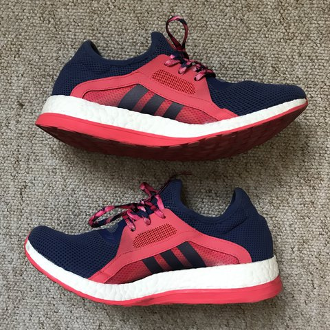 e7bb97c07 Womens adidas Pure Boost X Running Shoes Size 7 Pink and way - Depop