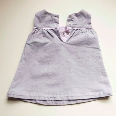 d3c5fbf02 0-3 month baby girl 'the little white company' dress. Grey x - Depop