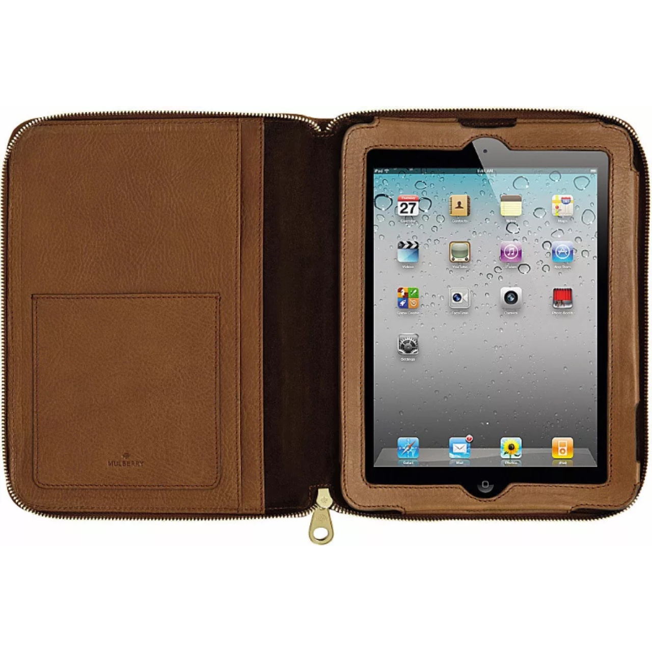 purchase cheap dff01 1e940 Mulberry leather iPad folio case, brand new, bought... - Depop
