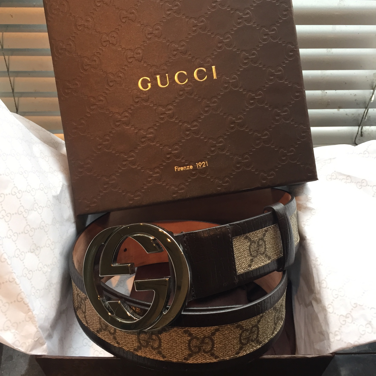 e231efd40ba Brand new authentic unworn gucci belt bought from gucci (Old - Depop