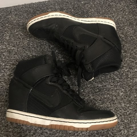 separation shoes c23d2 23b79  02chaus. 6 months ago. Liverpool, United Kingdom. Nike Dunk Sky High mesh  Black Wedge trainers ...