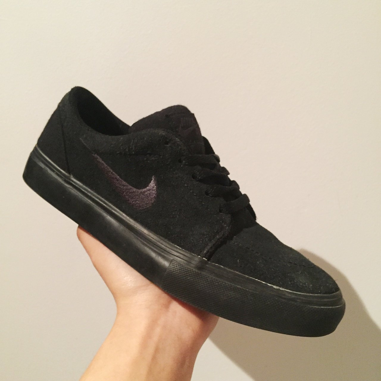 22cb593f2753 Nike SB all black skate shoes/janoskis. Size 5.5 UK. In as a - Depop
