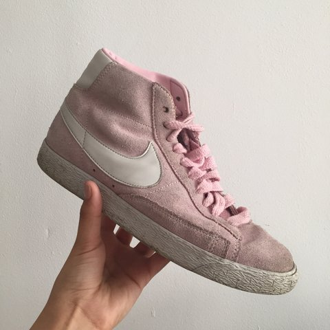 18011fa9fa ... sweden nike blazers baby pink trainers limited edition colour worn depop  30c86 618dc
