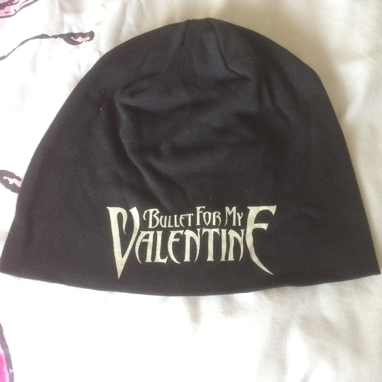 0275abea917 Bullet For My Valentine cotton beanie. Bought from Download - Depop