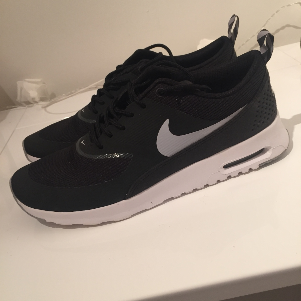 Nike Air Max Thea Black Wolf Grey White Have been Depop
