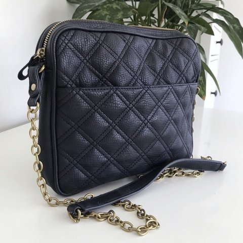 eda64ef4310 Vegan Merona Quilted Crossbody Bag with gold chain strap. in - Depop