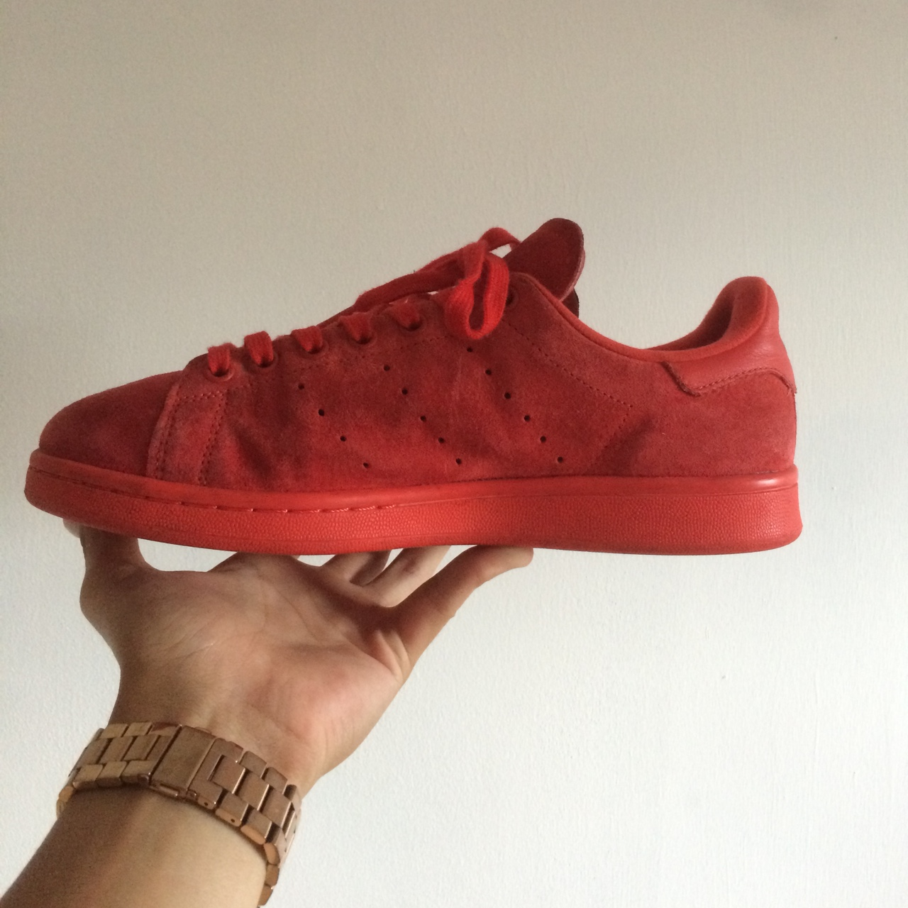 Adidas Stan Smith Red Suede Size 7 shoes. 9 10 condition a - Depop b3a9f97dc04e