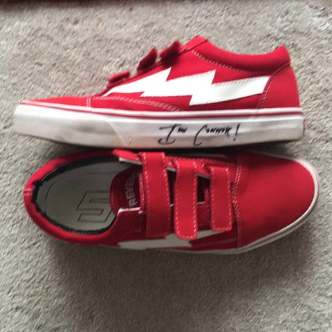 Revenge x Storm Velcro red, signed by