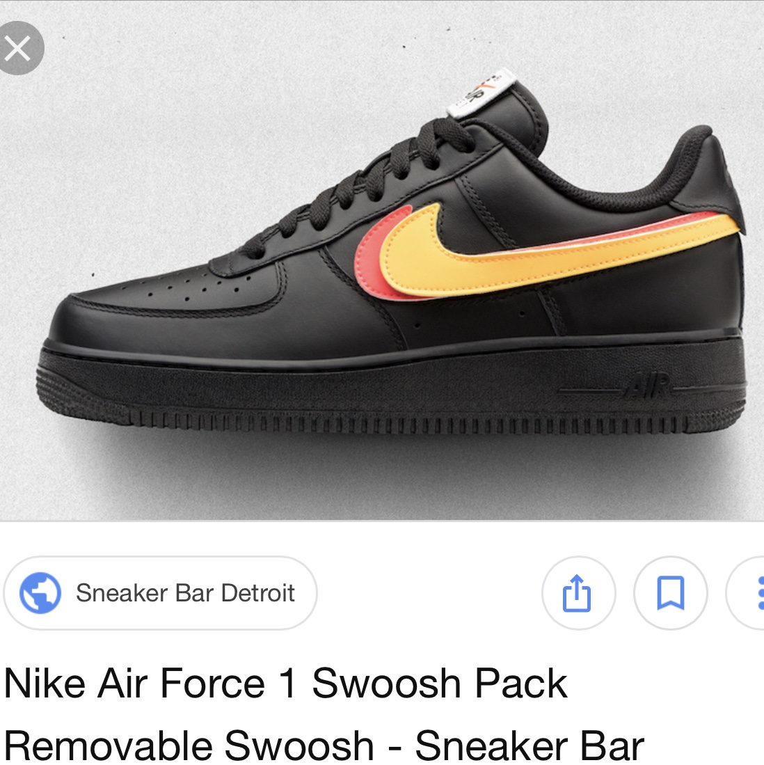 Nike Air Force one swoosh pack Removable sticker, Depop