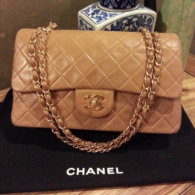 eafabee3abf5 Repop! Classic vintage Chanel lambskin double flap. Comes   - Depop