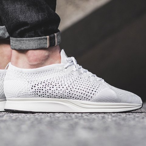 bb8699b516c454 Nike flyknit racer - Triple white - Size- UK10 - Brand new