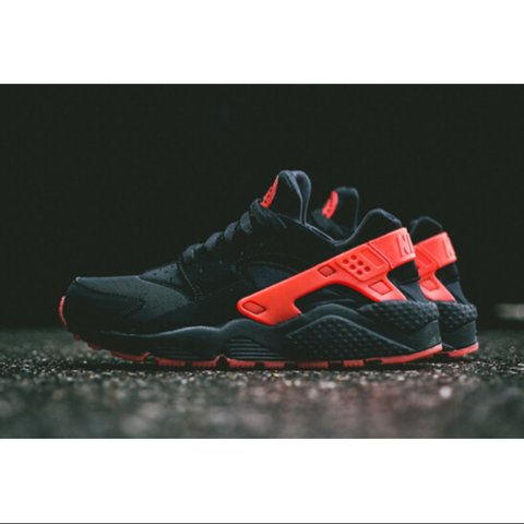 5f0d19720beb8 Red and Black Love Hate Pack Nike Air Huaraches Huarache are - Depop