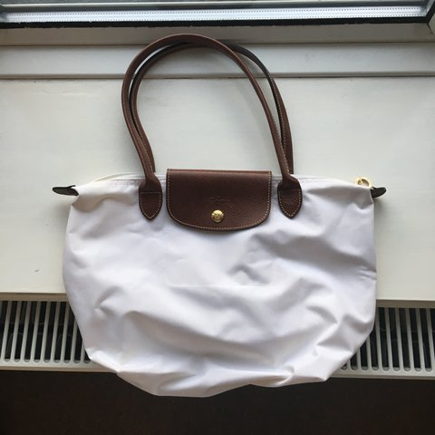 Genuine Longchamp Le Pliage Small Tote Bag in White. Used on - Depop 44194937cf74d
