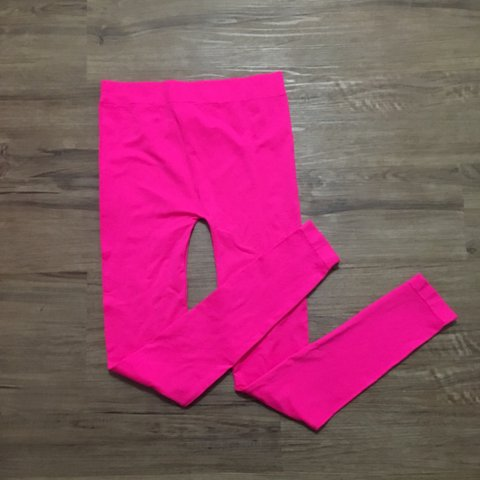fc14381a5d8 Bright neon pink tights with no rips or tears. Never worn is - Depop