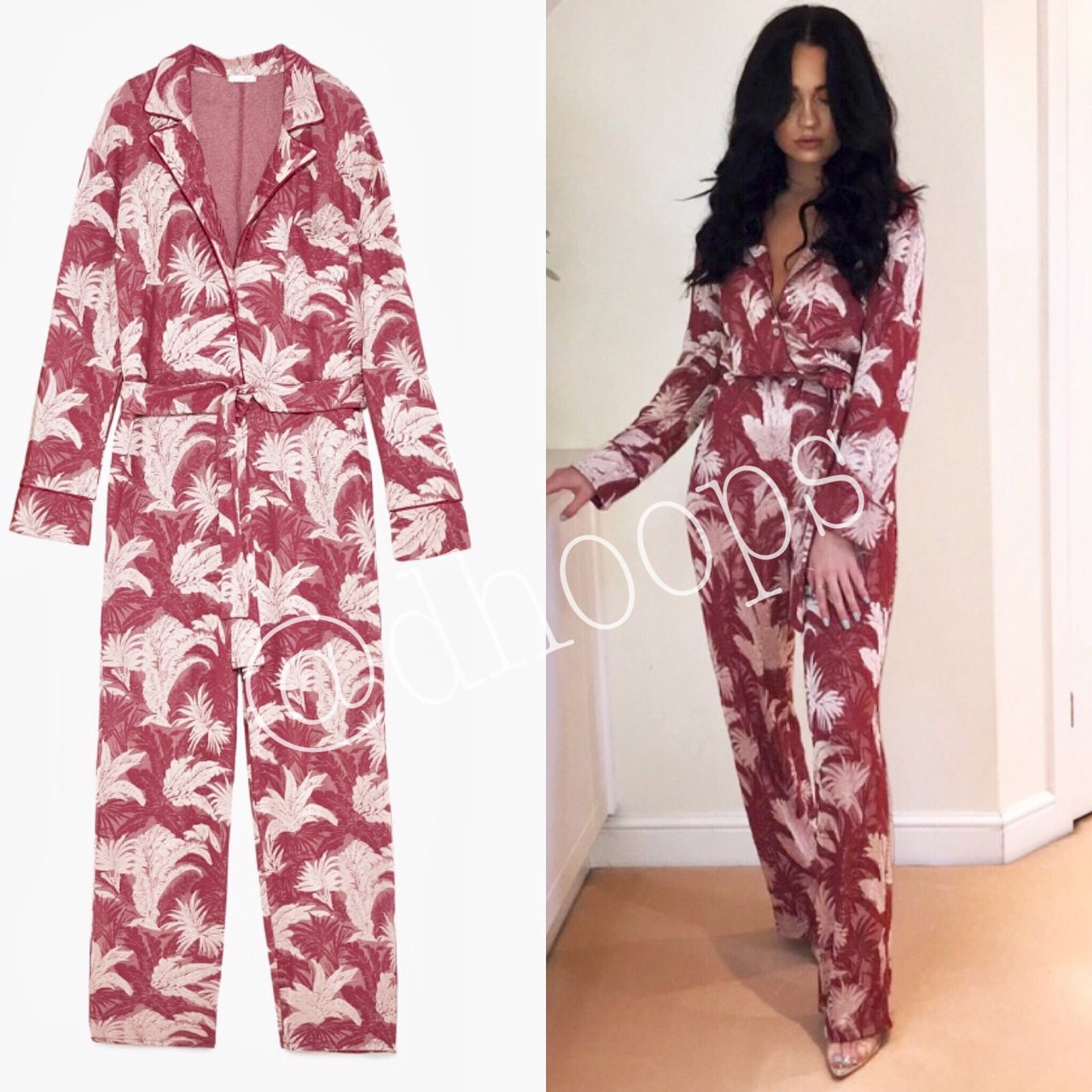 c1327e042100 Zara Jacquard jumpsuit sizes S available new with is final
