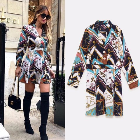 94f08077 @dhoops. 3 months ago. Cambridge, United Kingdom. Zara chain patchwork  dress xs available. New with tags