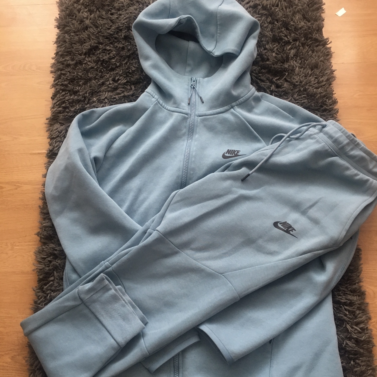 Fresh Baby Blue Nike Tech Tracksuit For Sale In A Depop