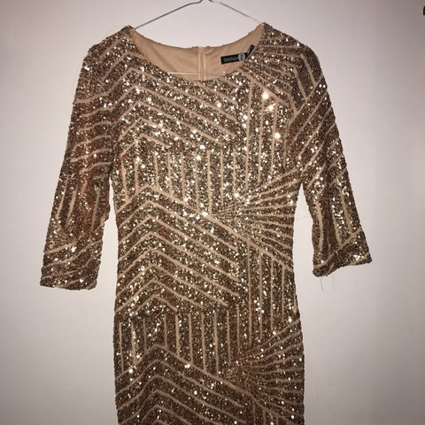 58f344dbc0af Boohoo sequin Gatsby dress, worn once, perfect condition. - Depop