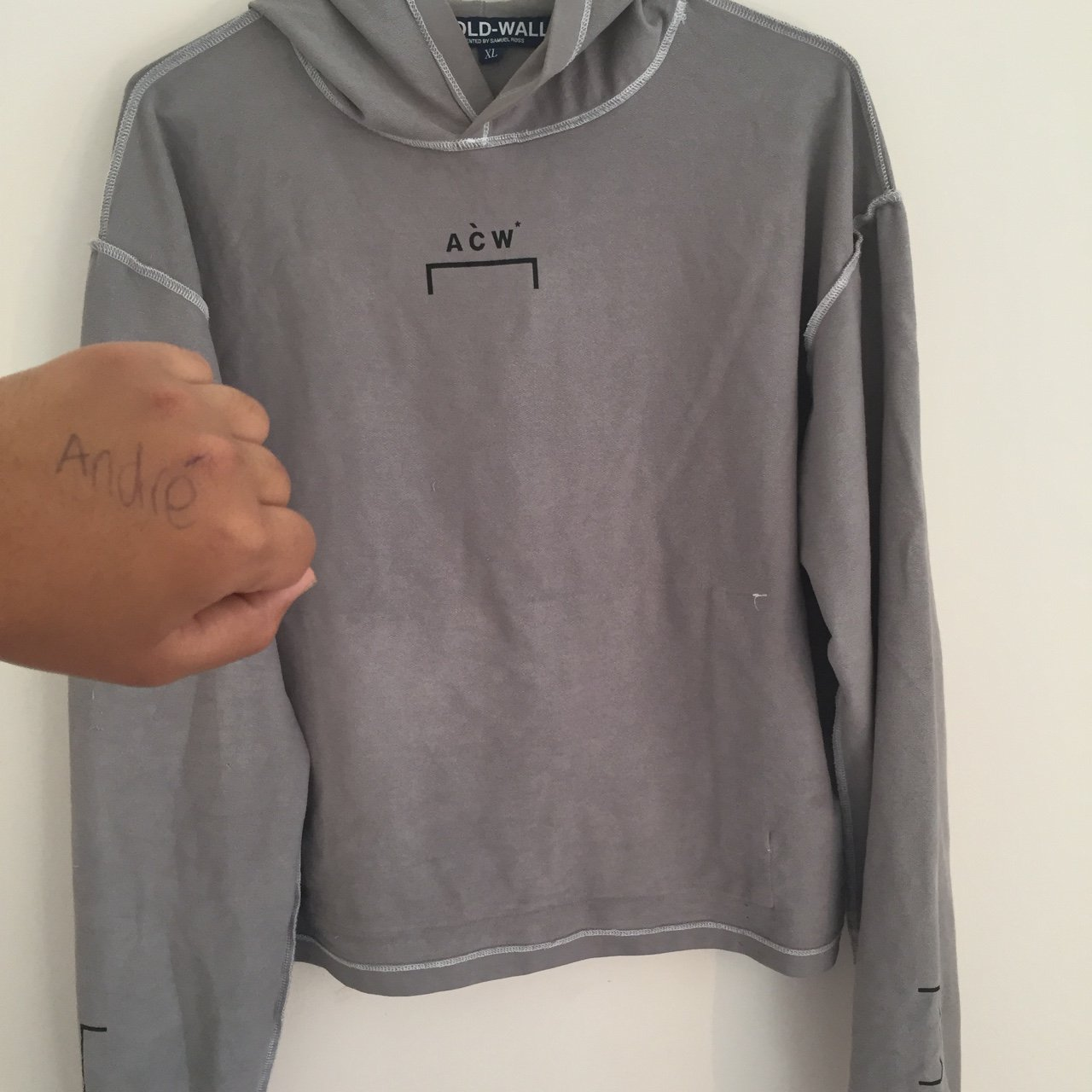 4941e484 AĆW HOODIE/ a cold wall hoodie. Size x large can fit a large - Depop