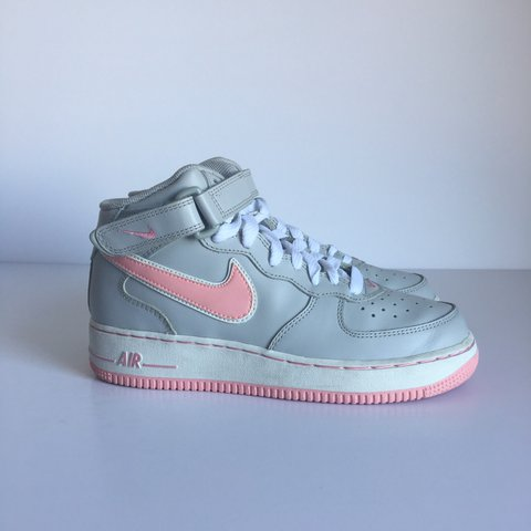 e3d2cd7fa3 Nike Air Force 1 , Grey / Pink , Size UK 5 EU 38.5 . Worn is - Depop