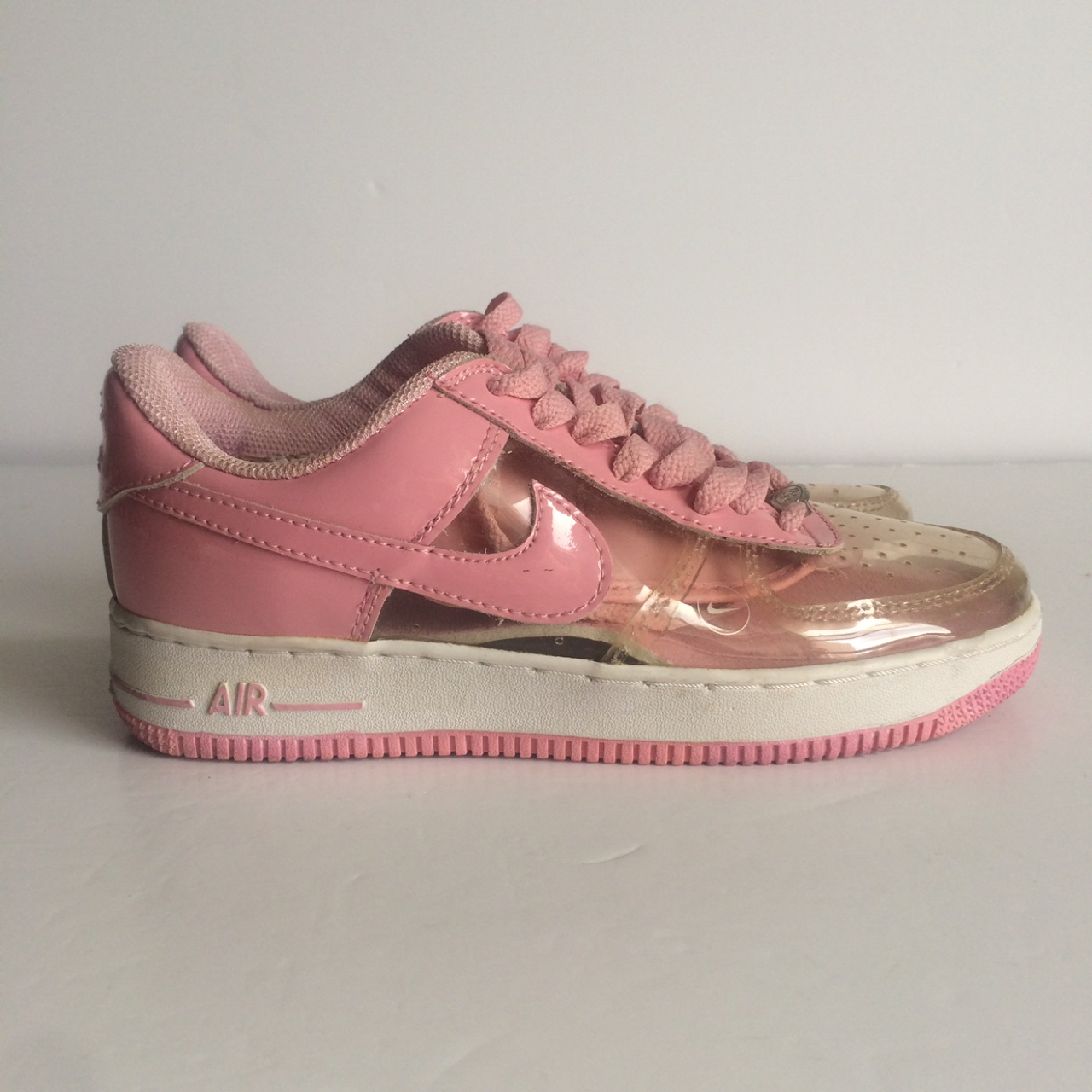 Clear pink Nike Air Force 1 , Size UK 4
