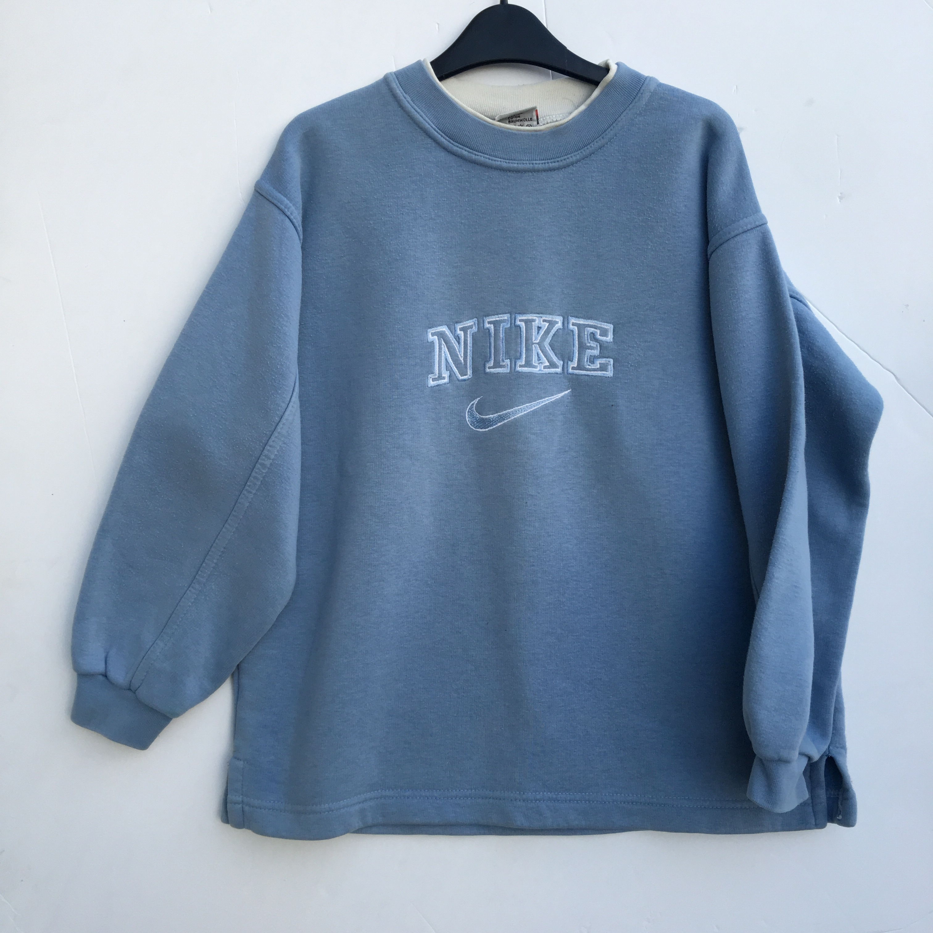 Vintage 90s Nike Baby Blue sweatshirt , would fit a , Depop