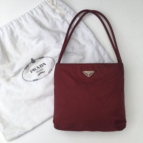 5fda8a6fb2950b @johnsvintage. 3 months ago. Portsmouth, United Kingdom. Authentic Vintage  Prada Nylon Handbag ...