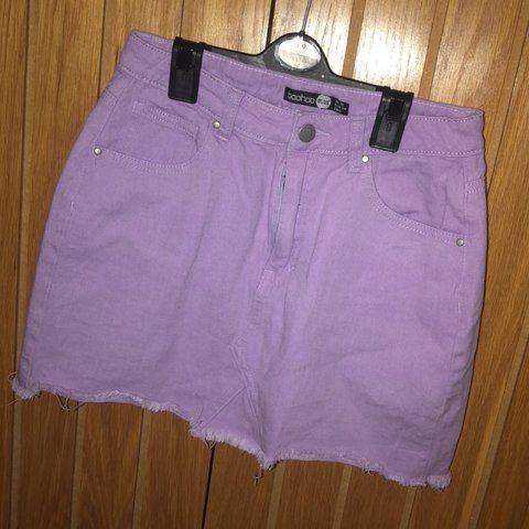 a6d396b0690855 @tiaaagan. 10 months ago. Leicester, United Kingdom. Lilac / Purple denim  skirt. Boohoo size 10. Worn once