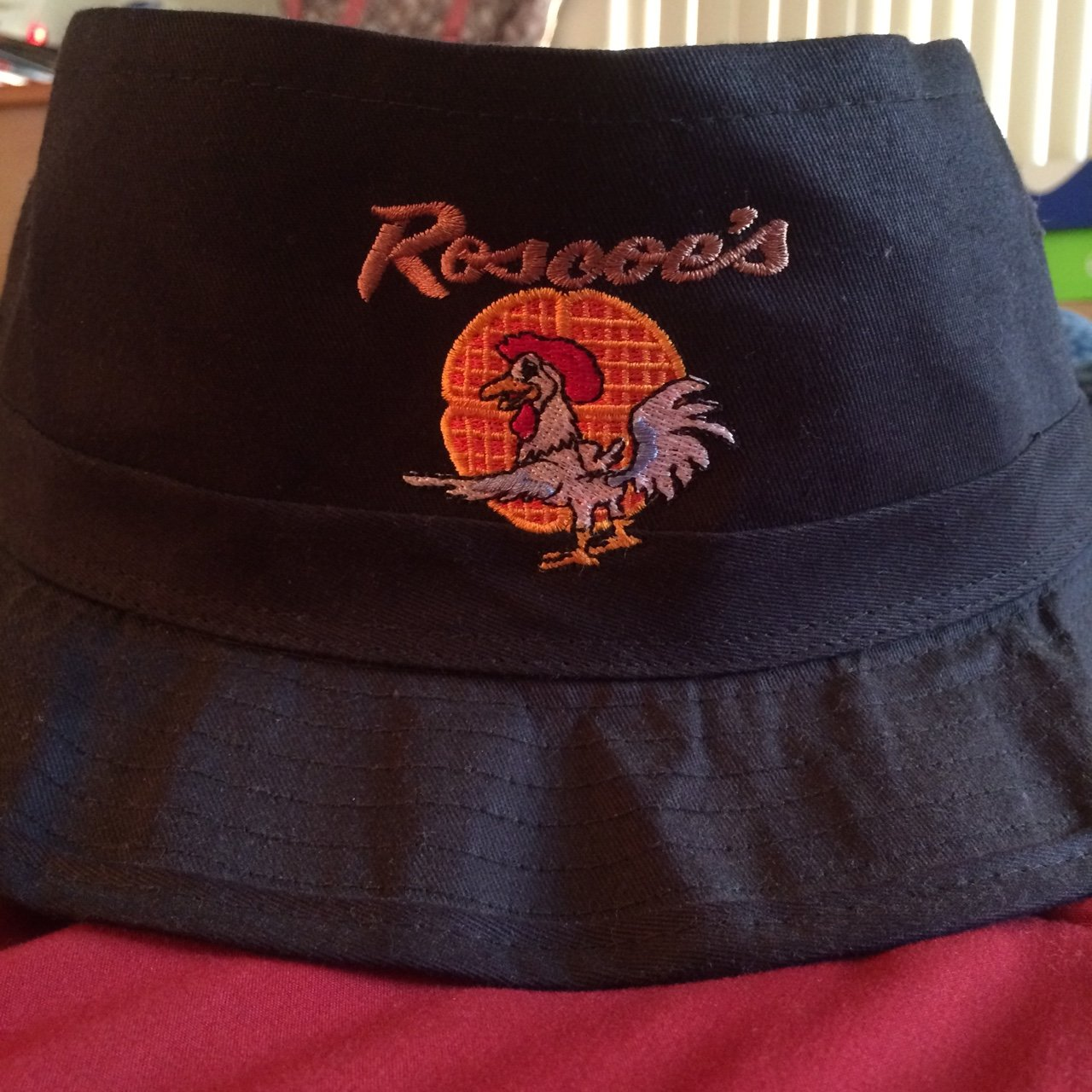 Roscoes chicken and waffles bucket hat. Size  L XL. - Depop 139ee3c2741