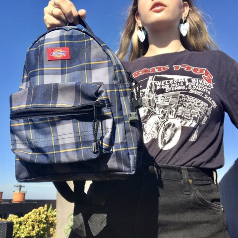 408bf46687 Super cute Y2K mini Dickies plaid backpack!!💙 Great for and - Depop