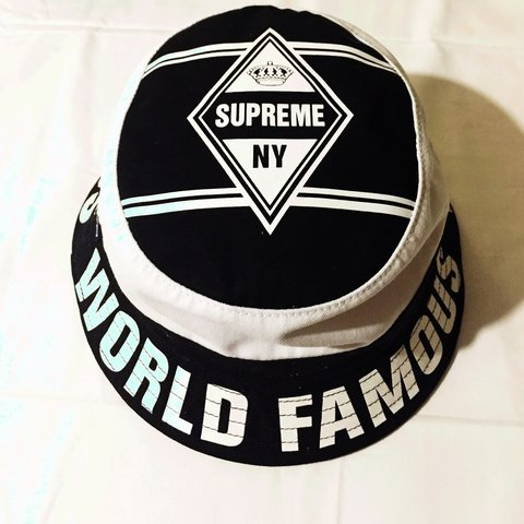 73080396739 Supreme world famous bucket hat. Worn once! Great condition