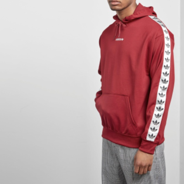 adidas hoodie tnt tape red