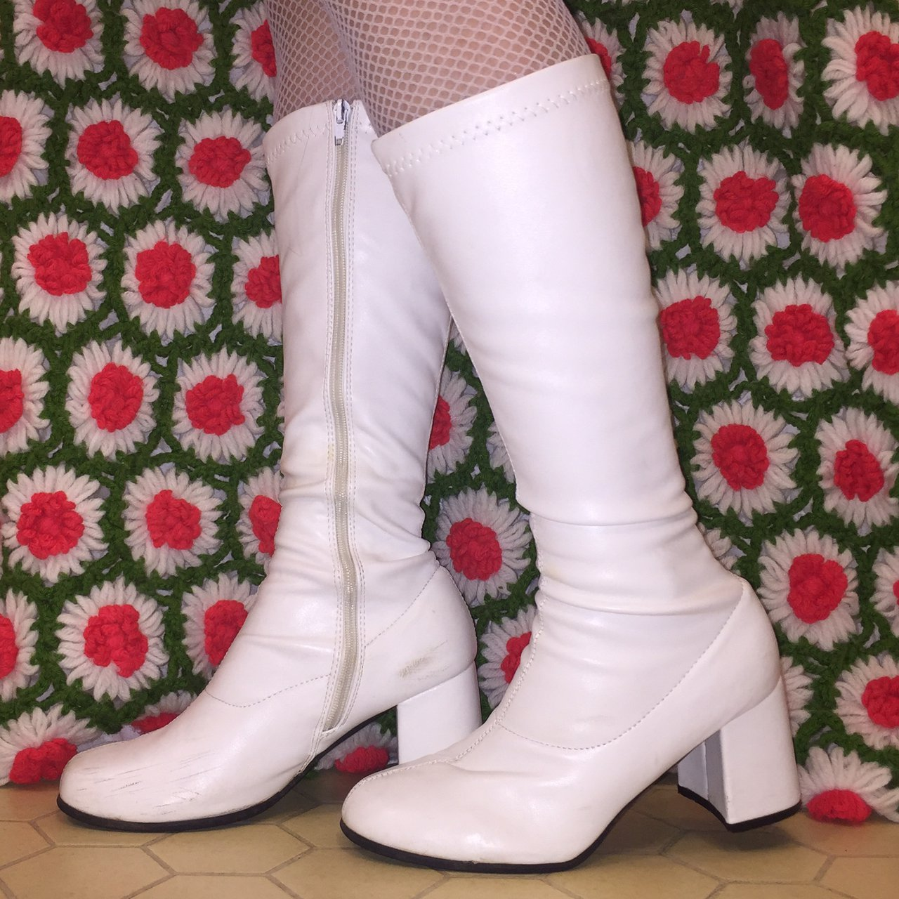 62ca31938 Vintage Style White Gogo Boots! Love These So Much! They Go With Literally  Everything