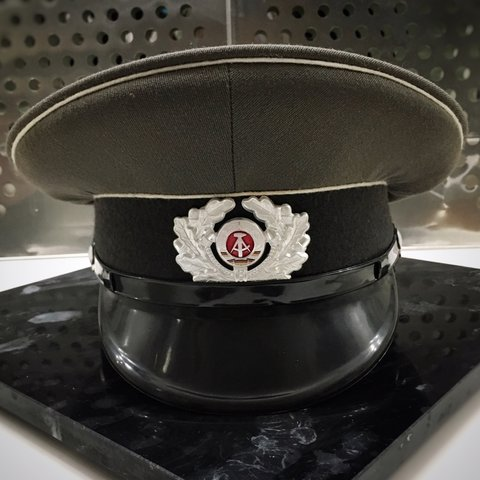 71e4940bae3 1980 East German Soviet Military Officer Wool Hat - This is - Depop