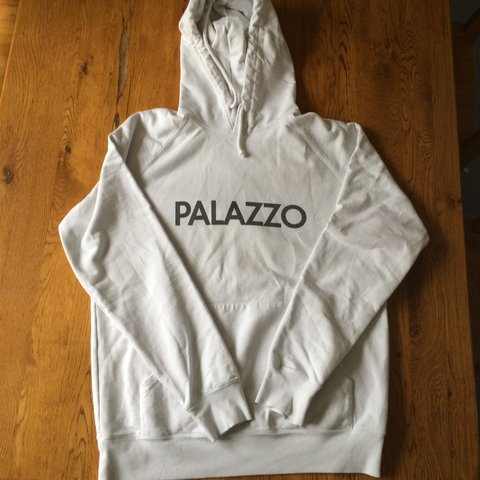 7c5a74ef64b0 Palace palazzo hoodie very rare. Back print has faded though - Depop