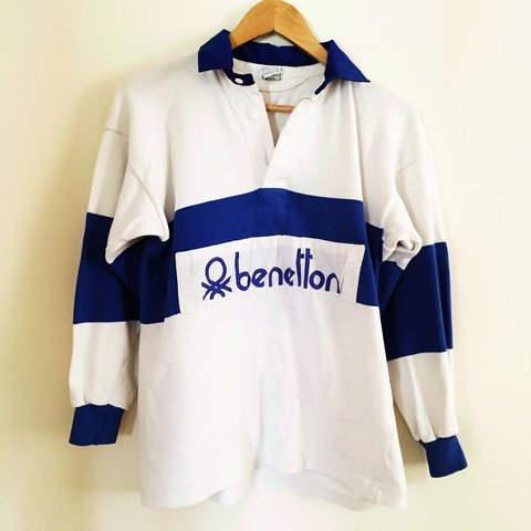 7e3a49d3201 Amazing Vintage, So Rare and sought after BENETTON Rugby of - Depop