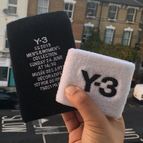 8c79a8644581d Set of two knitted wool sweatbands from Y-3 by Yohji Rare - Depop