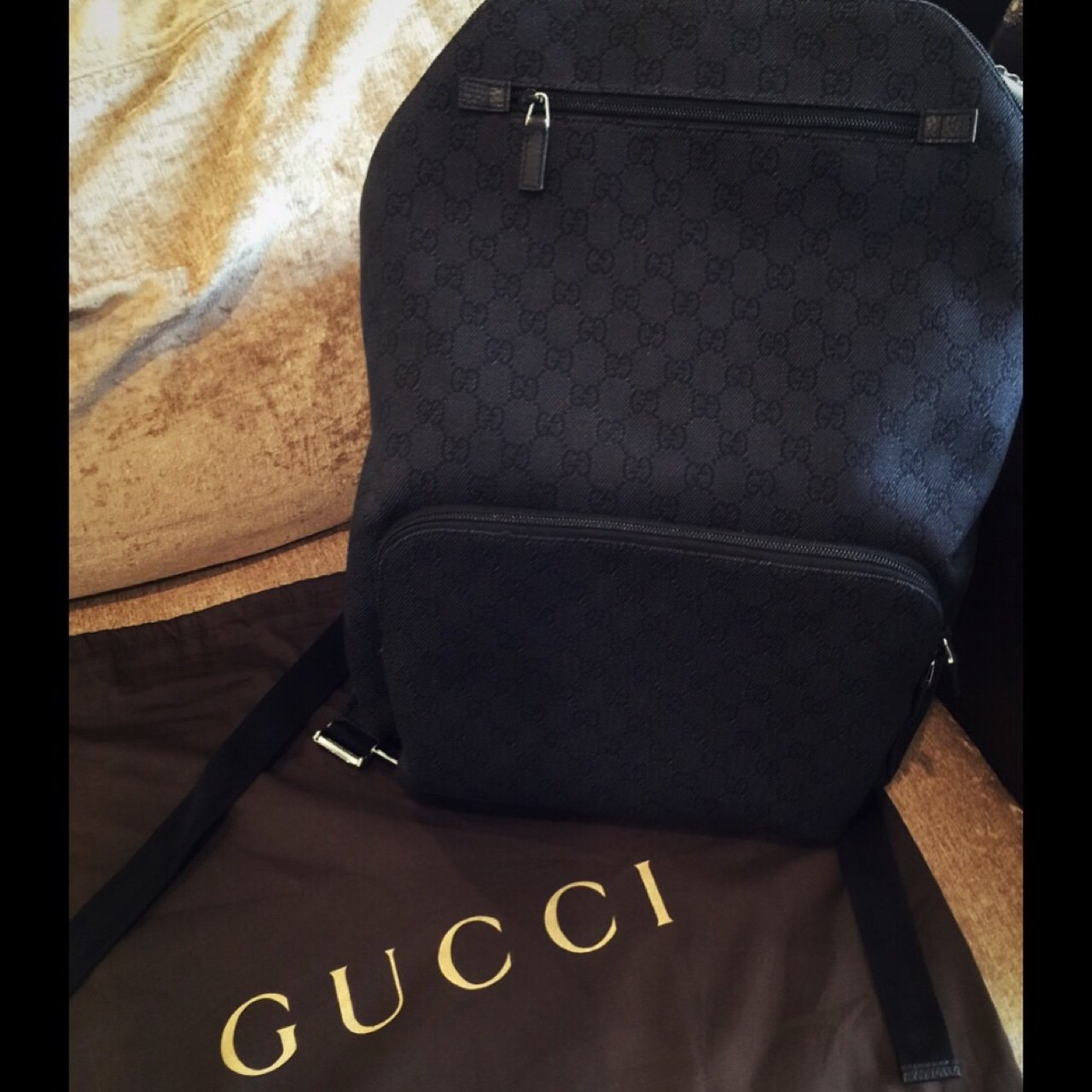 fb13b866a238 Gucci backpack brand new never used  with dust bag. 700  - Depop