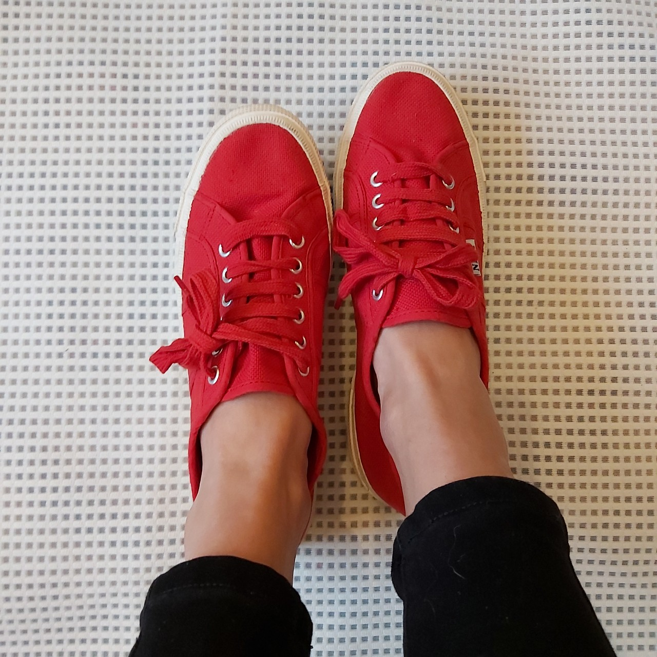 Red Canvas Trainers -Next -Size 8 (42