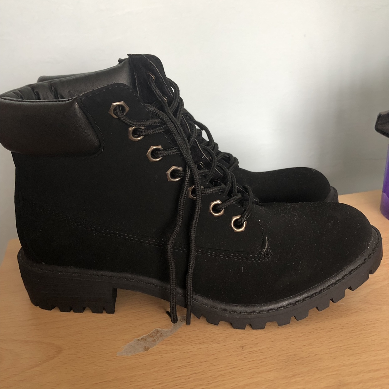 Black boots from Penneys Never worn
