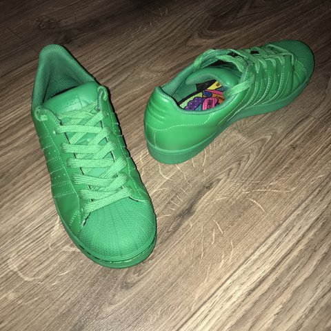 018021bacc079 Adidas superstar pharrell Williams limited edition size once - Depop