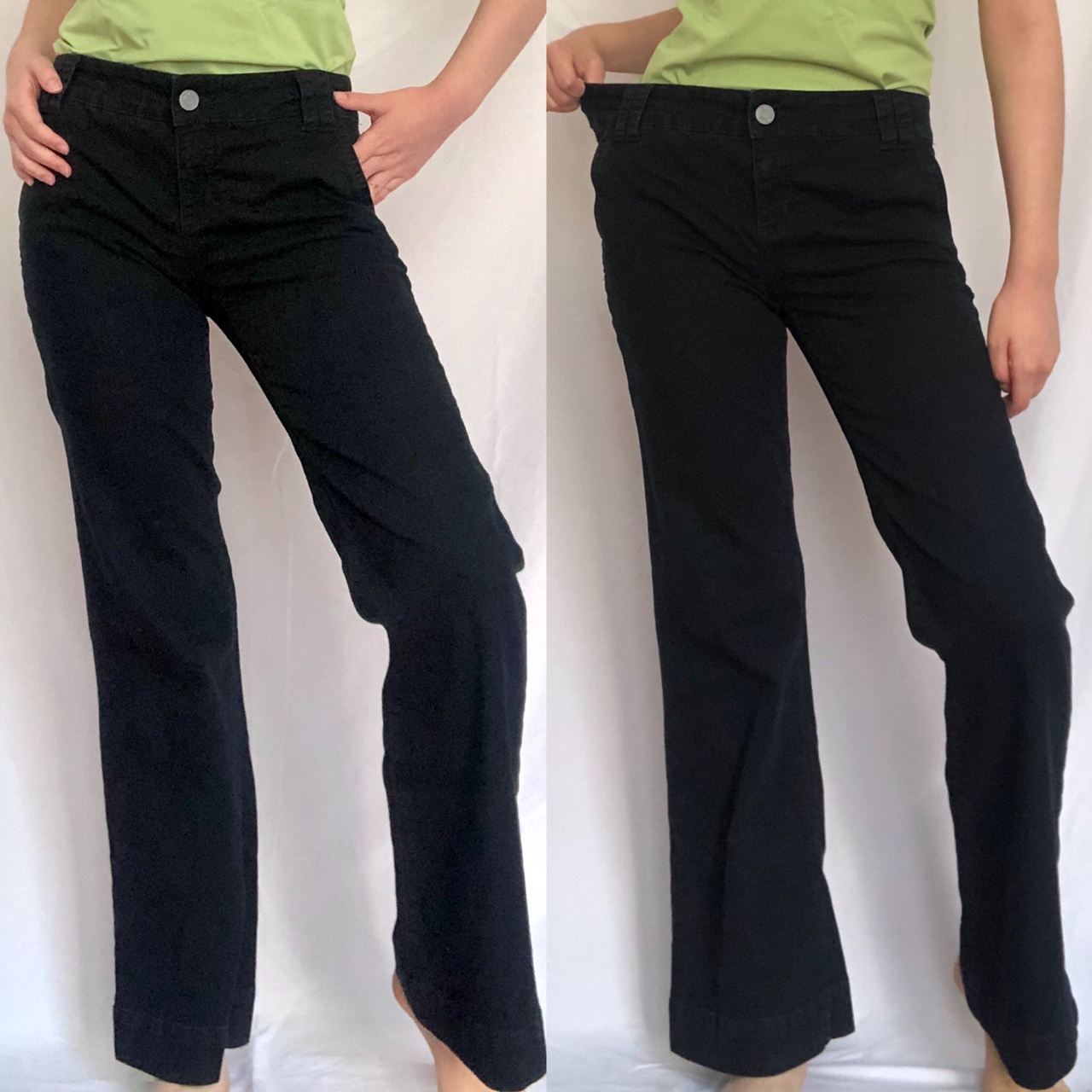 vintage Kut from the Kloth black midrise flare jeans