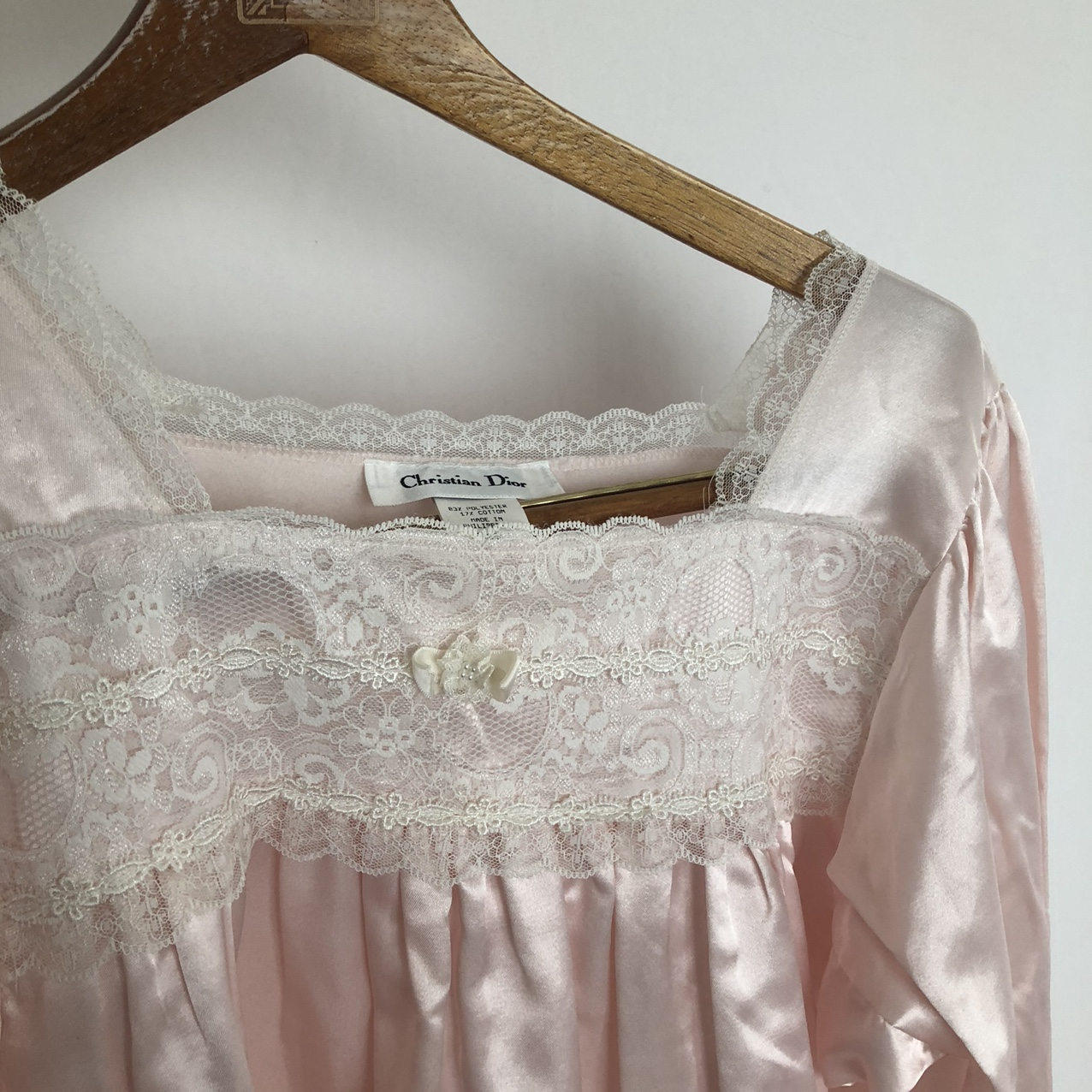 NWT vintage Christian Dior baby pink babydoll nightgown with