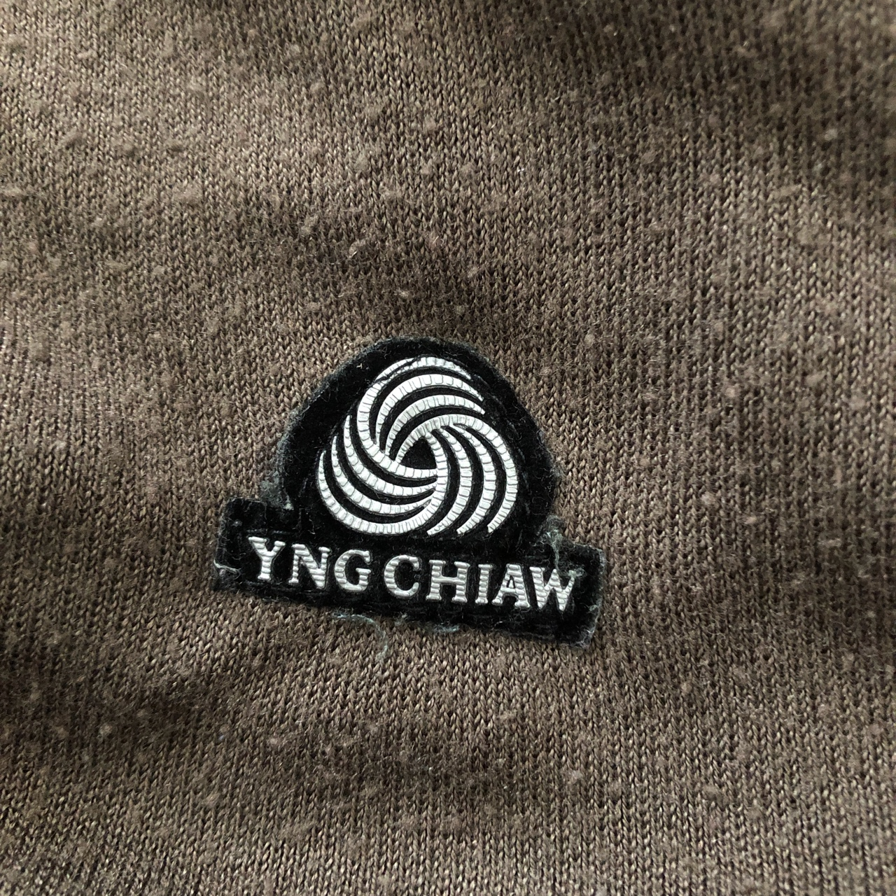 YungChia brown wool knit sweater vest. super trendy and