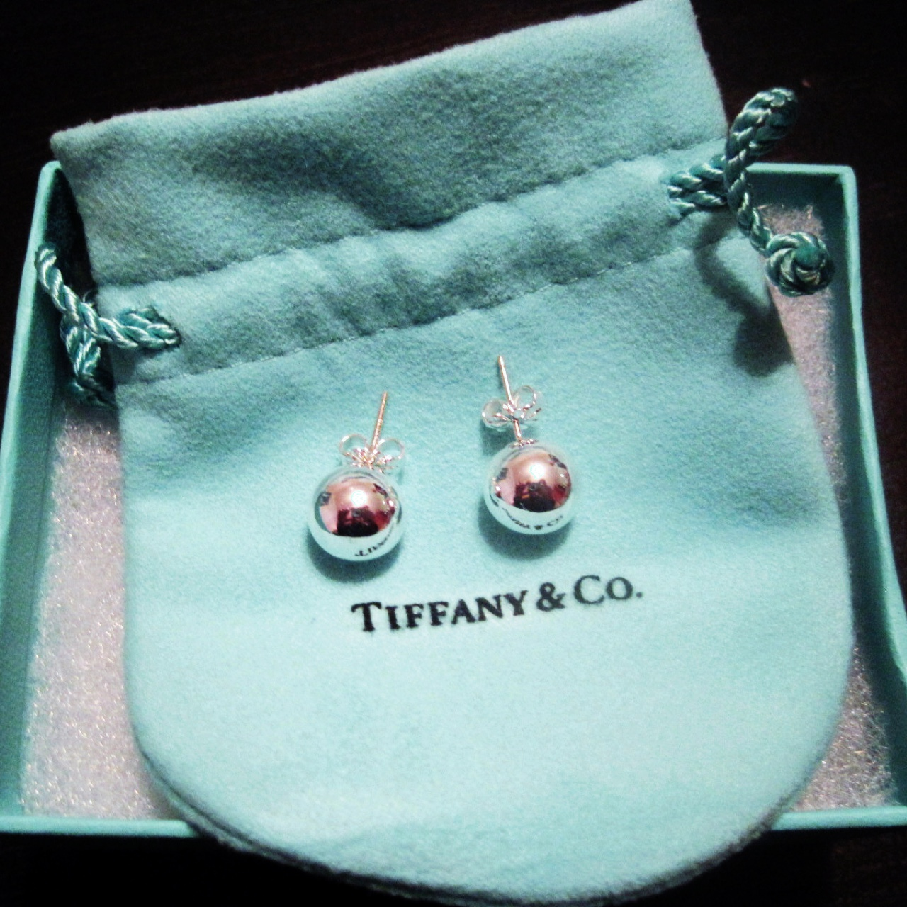 22985361c @a_dilla_. 4 years ago. Stockholm, Sweden. Tiffany & Co silver bead earrings  ...